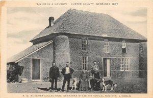 F50/ Custer County Nebraska Postcard c1920 Mansion Artvue Sod House