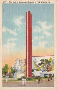New York World's Fair 1939 Hall Of Communications Curteich sk1947