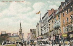 BOSTON, Massachusetts, 1900-10s; Tremont Street