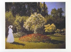 'Jeanne-Marguerite Lecadre in the Garden' Claude Monet Art Unused Postcard D31