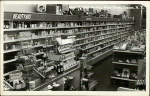 Canton NY Russell's Self Serving Drug Store Interior Real Photo Postcard