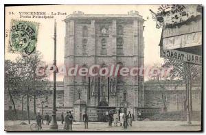 Postcard Old Vincennes Fort Main Gate
