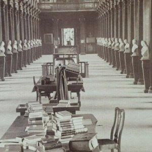 Library Trinidad College Dublin Irlanda Libros Manuscripts Foto Estereoscopia