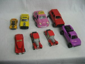 Set of Eight (8) Vintage Misc. Toy Cars and Trucks