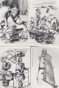 Glencoe Museum Tobacco Old Snuff Gardner Knitting 4x Scottish Art Postcard s