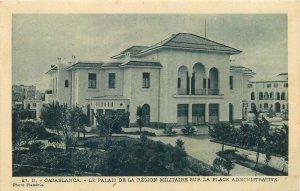 Postcard Maroc Casablanca Le Palais de la Region Militaire Place Administrative