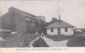 North Carolina Granite Quarry Rowan Granite Company Stone Shed &  Office