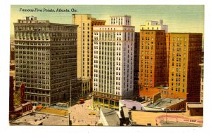 GA - Atlanta. Famous Five Points