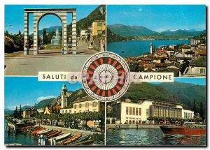 Postcard Modern Campione Lago di Lugano