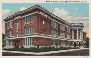 PETERSBURG , Virginia , 1930-40s ; Anna P. Bolling Junior High School