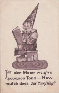 Humour Boy Wearing Dunce Cap Iff Der Moon Weighs 9,000,000 Tons How Much Does...