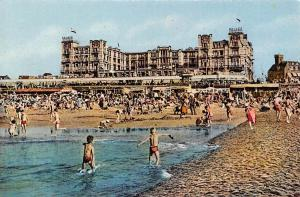 Netherlands Scheveningen, Palace Hotel, animated, beach, children, Photo Chrome
