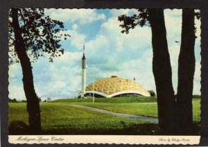 MI Michigan Space Center Ctr Jackson Community College Rockets Aviation Postcard