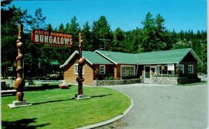 JASPER, Alberta,  Canada   ROCHE BONHOMME Bungalows c1960s  Roadside   Postcard
