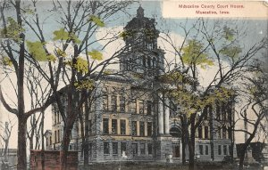 H40/ Muscatine Iowa Postcard c1910 Miscatine County Court House Building