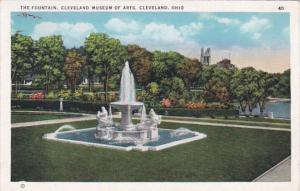 Ohio Cleveland The Fountain At Cleveland Museum Of Arts 1937