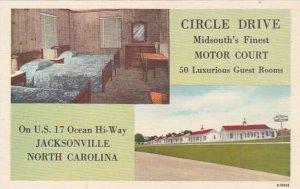 North Carolina Jacksonville Circle Drive Midsouths Finest Motor Court Albertype