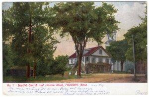 Foxboro, Mass, Baptist Church and Lincoln Block