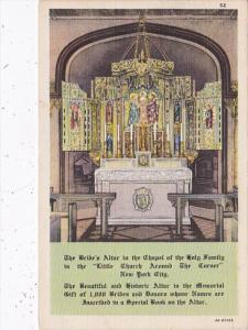 New York City Little Church Around The Corner The Bride's Altar !938 Curteich