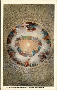 Washington DC Rotunda Canopy Postcard Old Vintage Card View Standard Souvenir PC
