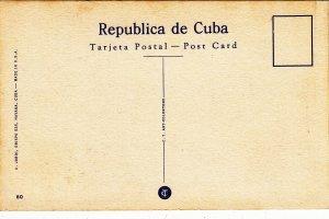 P1932 vintage postcard havana fraternity tree, capitol cuba unused