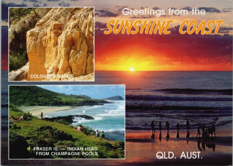 Greetings from Sunshine Coast Queensland Australia AU Multiview Postcard D34