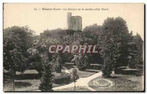 Old Postcard Gisors Le Donjon and Jardin north coast