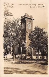 Lomira WI Dirt Road by the New Salem Evangelical Church~RPPC c1918