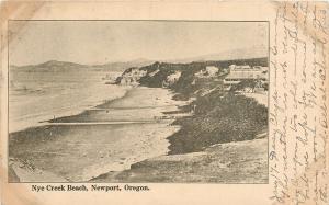 Newport Oregon~Nye Creek Beach~Hotel Resorts~1906 Postcard