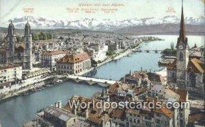 Mit den Alpen Zurich Swizerland Unused
