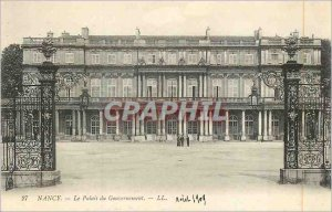Old Postcard Nancy Government Palace LL
