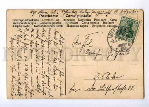 189685 FASHION Lady HUGE HAT in RAIN Vintage COMIC postcard