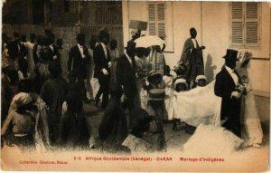 CPA AK Senegal-Dakar-Marlage d'indigénes (235397)