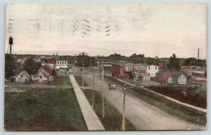 Thief River Falls MN~Horse & Wagon on Dirt Rd Into Town~Tall Water Tower~1912 PC