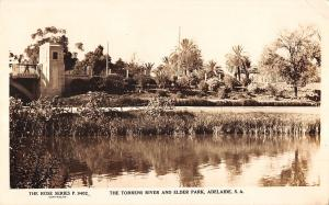 Adelaide Australia view of Torrens River Elder Park real photo pc Z15998
