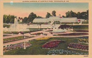 Indiana Indianapolis Sunken Gardens At Garfield Park