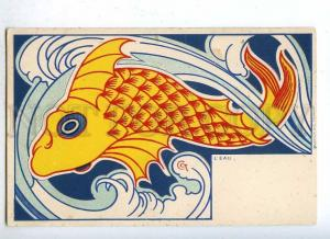 187606 ART NOUVEAU Water FISH by CCT Vintage DIETRICH PC