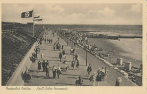 Nordseebad Bockum, Germany, 1930-40s ; Adolf-Hitler-Promenade
