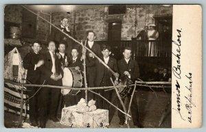 RPPC South Dakota~Junior Bachelor Carnival Booth~Rifenbark~Bass Drum~RPPC 1908