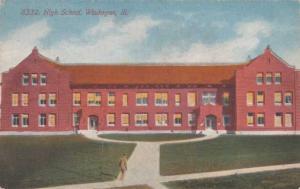 High School at Waukegan IL, Illinois - DB