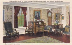 Massachusetts Salem Hawthorne's Corner In The Parlor House Of The Seven Gable...