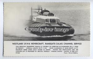 f0802 - Westland SRN 6 Hovercraft - Ramsgate - Calais Service - postcard