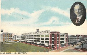 FORD MOTOR CO Detroit, MI Automobile Plant Henry Ford 1916 Rare Vintage Postcard