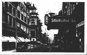 California San Francisco Chinatown Street Scene Shanghai Low