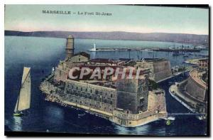 Postcard Old Marseille Fort St John