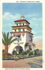 Campanile, Chimes Bell Tower Agua Caliente Mexico Linen