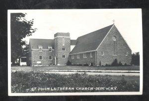 RPPC DEPEW NEW YORK ST. JOHN LUTHERAN CHURCH VINTAGE REAL PHOTO POSTCARD NY