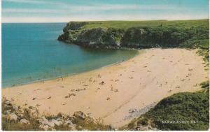 Post Card Wales Pembrokeshire Barafundle Bay