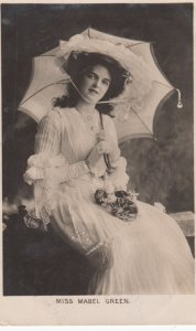 RP : ACTRESS , Miss Mabel Green , 1906