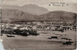 Mindello Sao Vicente Cape Verde Ships Postcard F7 *as is